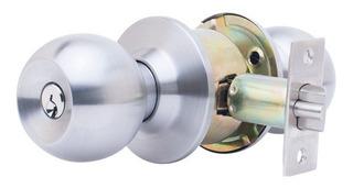 Cerradura Chapa Pomo De Metal En Esfera Cilindrico Puerta