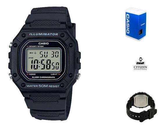 Reloj Casio Digital W218 Unisex Negro Full