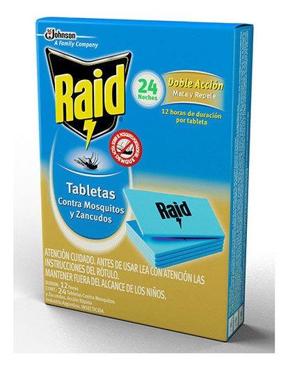 Raid Tabletas 4 Exp. X 20 Estuches Doble Acción 24