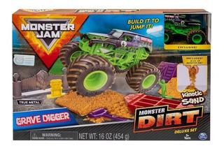 Monster Jam Grave Digger Monster Dirt Auto Metal Kinetic San