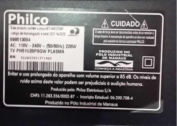 Tv Philco Ph51u20psg Plasma: Tela Quebrada