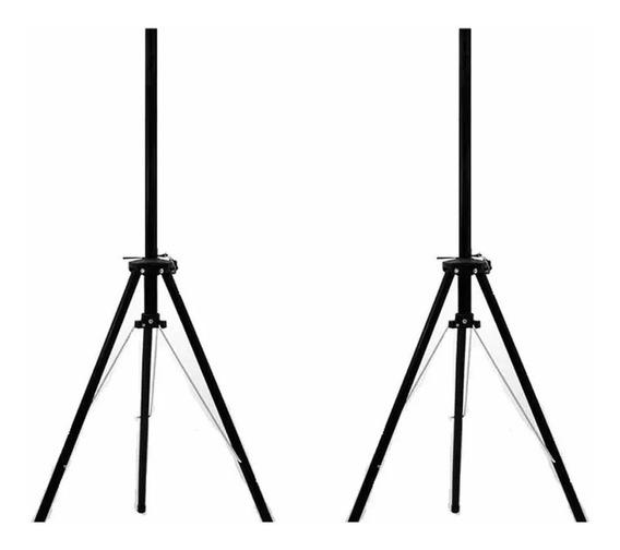 Kit 02 Suporte Pedestal Tripé P/ Caixa Drobrável - Playaudio