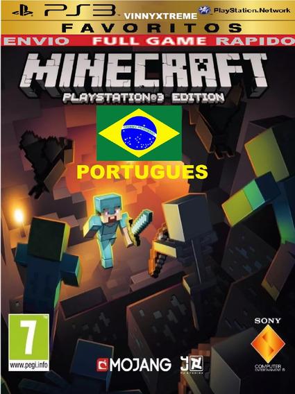 Minecraft Ps3 Portugues Original Infantil Disney Carros Luta