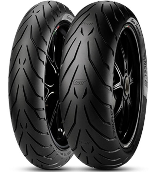Par Pneu R 850 120/70r17 + 160/60r18 Zr Tl Angel Gt Pirelli