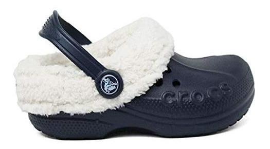 Crocs Blitzen Kids Navy/off Forrado Com Pelo Original