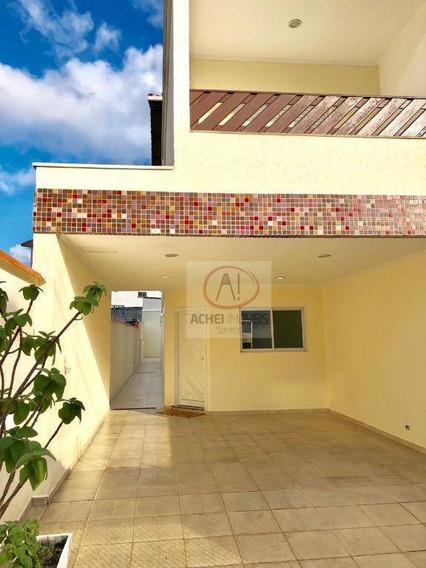 Casa Com 4 Dormitórios À Venda, 240 M² Por R$ 800.000 - Vila Valença - São Vicente/sp - Ca1601