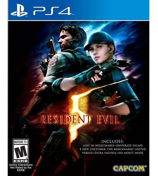 Jogo Resident Evil 5 Ps4remaste.,rizad Mídia Física Original