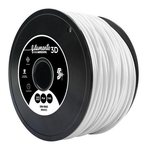 Filamento Para Impressoras 3d Pla 1kg 3mm Branco
