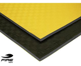 Tatami Bicolor Amarillo-negro Piso Gimnasio Fire Sports 2cm