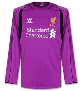 Camisa Liverpool Roxa 14-15 Goleiro Manga Longa Importada