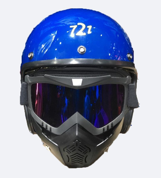 Casco Abierto Vintage Cafe Racer Speed Mad -mascara Rpm764