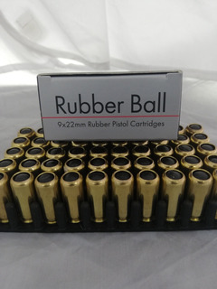 Munición Traumatica Calibre 9 Mm Rubber Ball X 50 Unidades