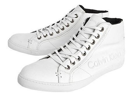 Sapatênis Calvin Klein Logo Branco T 38 Original Oportunidad