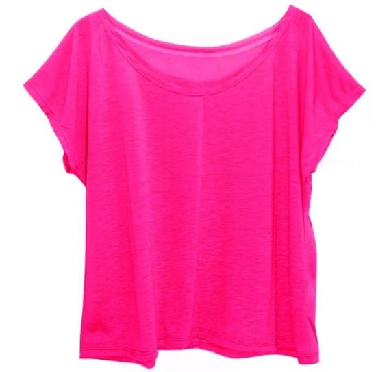 Kit 6 Blusas Blusinhas T-shirt Camisetas Feminina Plus Size