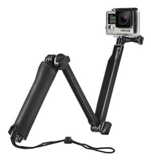Selfie Stick Con Tripie Y Grip Compatible Con Go Pro, Sj Cam