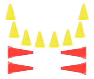 8 Cones 18cm + 4 Cones De 28cm De Altura Treino De Agilidade