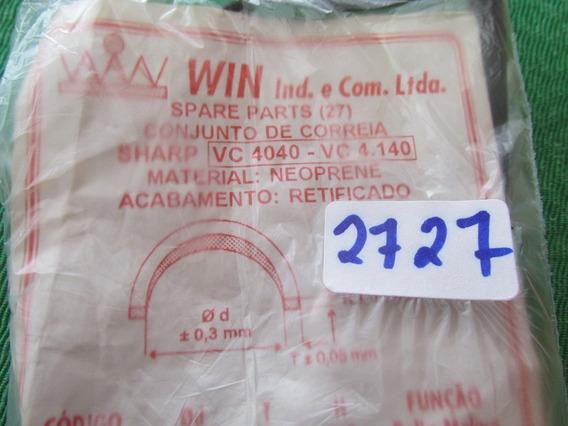 Correias Sharp Vc 4040 Vc4.140 Frete Grátis