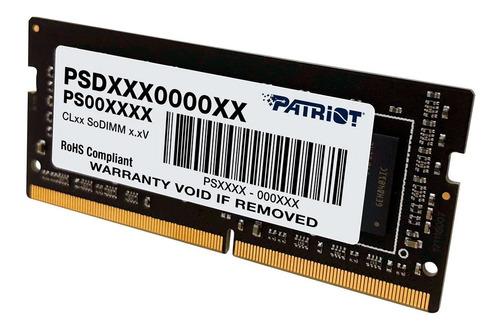 Imagem 1 de 2 de Memória Ram Patriot Notebook 16gb Ddr4 1x16gb Psd416g266681s
