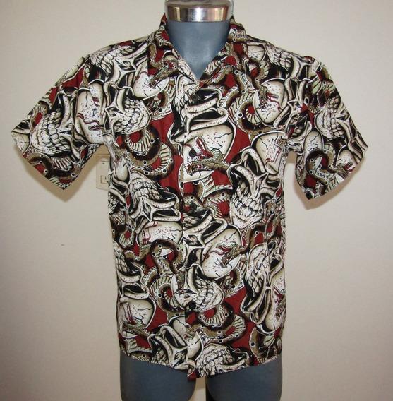 Camisa Moda Urbana Niño 10-12 Años Calavera Print
