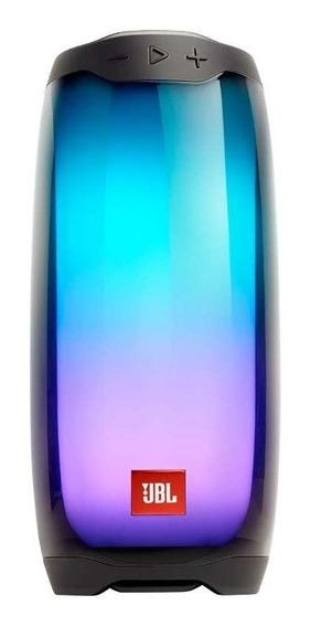 Caixa De Som Bluetooth Jbl Pulse 4 Black Partyboost 20w Rms