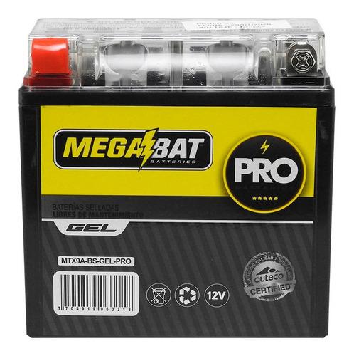 Imagen 1 de 2 de Batería Moto Megabat Mtx9a Gel Pulsar 180, 220
