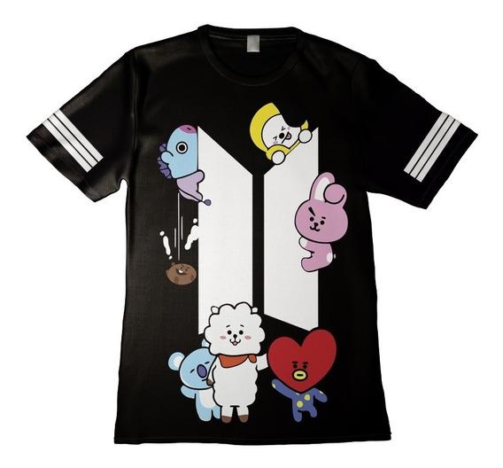 Camisa Camiseta Feminina Kpop Bts Bt21 Integrantes 24