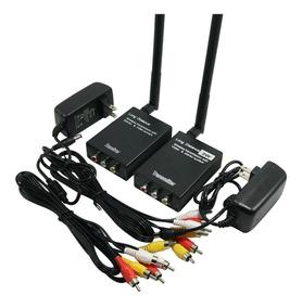 Transmissor/ Receptor Áduio Video + Bateria Recarregável 12v