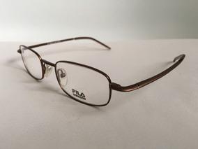Lentes Ópticos Fila Sf8378 Square Café Brown Original S 48mm