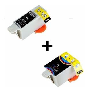 Combo Cartucho Alternativo Para Kodak 10 Xl Negro Y Color