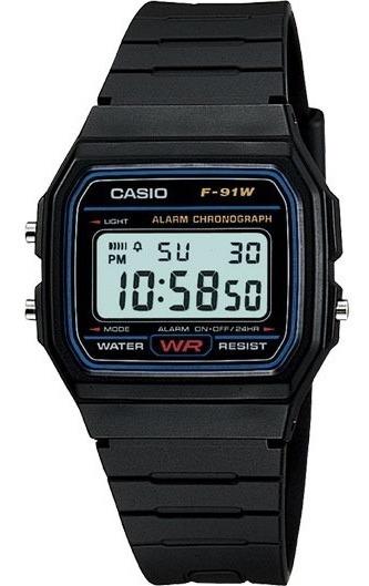 Relógio Casio F 91 Original Série Prata