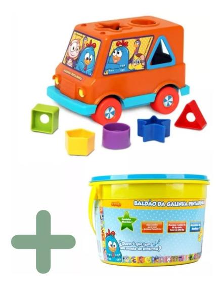 Galinha Pintadinha Van + Massinha Modelar - Bebês 1 A 5 Anos