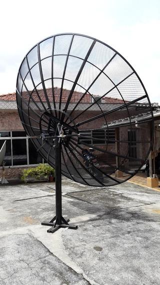 Antena Parabólica Grande 320 Cm Tela Alumio 1mm De Espessura