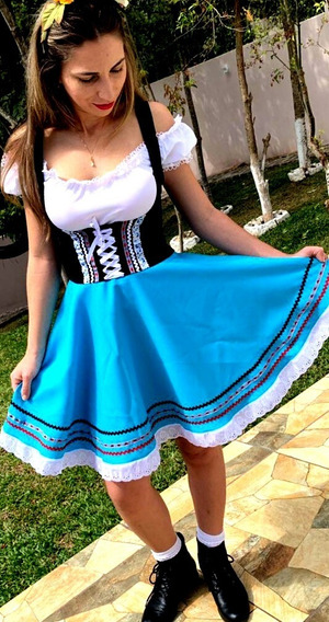 Traje Tipico Alemão Azul Celeste Fabricação Própria