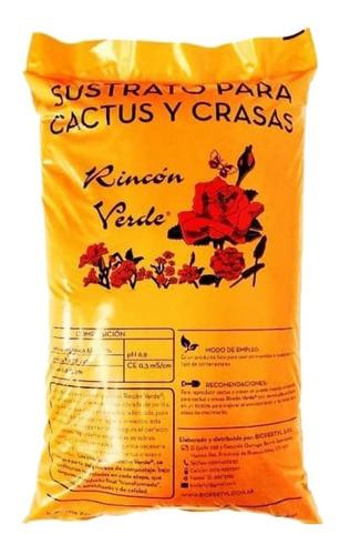 Sustrato Cactus 4 Bolsas De 5dm Rincon Verde Terrario Jardin