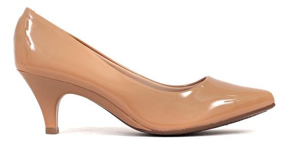 Zapatos Mujer Justa Cuero Ecologico Charol Beira Rio