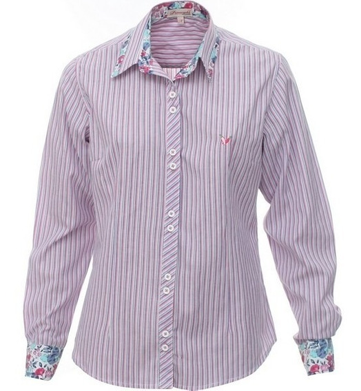 Camisa Social Feminina Paolla - Pimenta Rosada