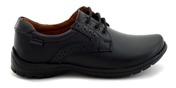 Zapato Escolar Coqueta Para Niña 54406-a Negro [cta786]