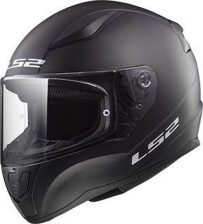 Casco Moto Ls2 Ff 353 Rapid Solid Negro Mate Devotobikes