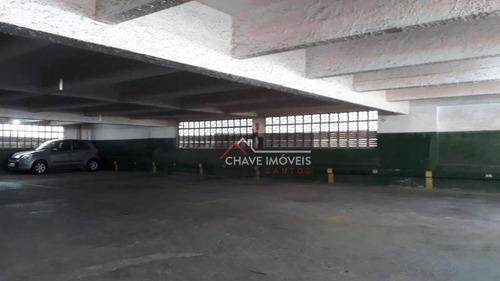 Raridade! Garagem Fixa Com Portaria 24 Horas, Total Segurança Para Seu Carro! Prédio Com Garagens, Avenida Bartolomeu De Gusmão, Embaré, Santos, Sp. - Gr0004