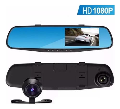 Imagen 1 de 8 de Espejo Retrovisor Camara Frontal Testigo Para Auto Hd + Camara Trasera Video Filmadora + Cuotas
