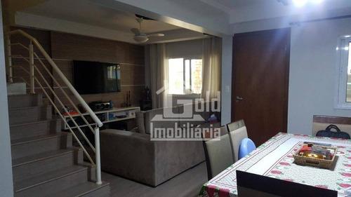 Casa Com 3 Dormitórios À Venda, 93 M² Por R$ 370.000,00 - Parque São Sebastião - Ribeirão Preto/sp - Ca1196