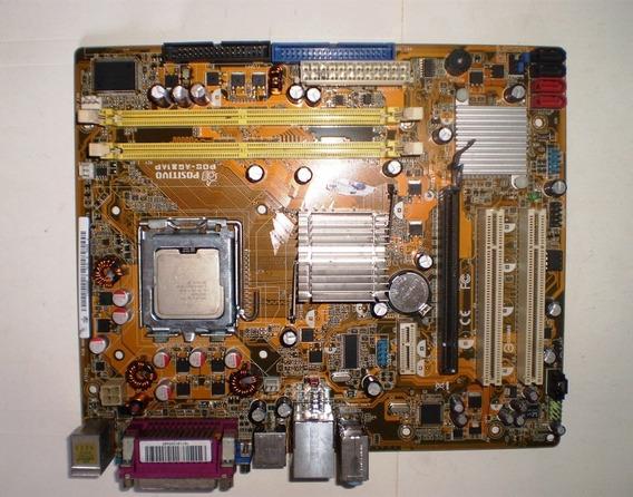 Placa Mãe Positivo Pos-ag31ap + Espelho + Processador