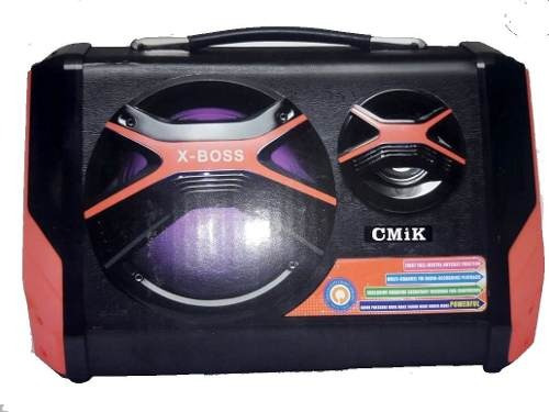 Caixa Som Amplificada Portatil Cmik Mk-b100 Mp3 Radio Fm Usb