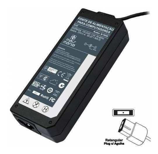 Fonte Carregador Para Lenovo Ideapad U430p 20v 4.5a 90w 668