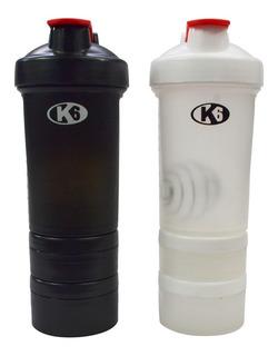Vaso Mezclador De Proteína Shaker Termo 450ml K6 Fitness