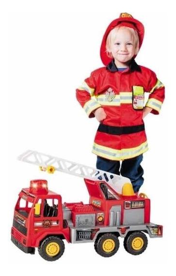 Caminhão Brinquedo Bombeiro Magic Toys 5042