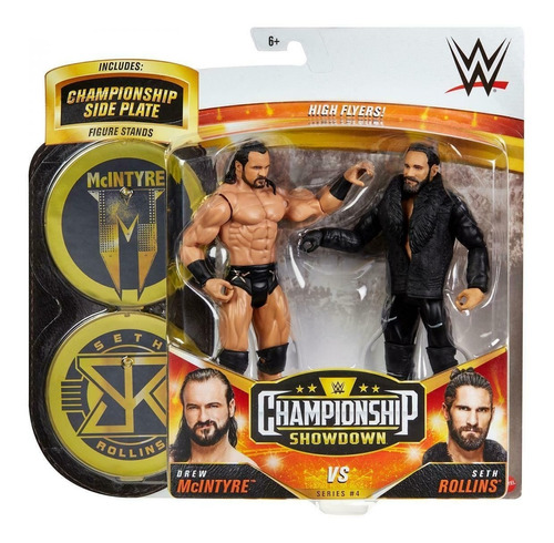 Imagen 1 de 1 de Wwe Mattel Drew Mcintyre Vs. Seth Rollins Championship Showd