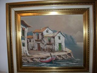 Cuadro Oleo Antiguo Obra Arte Enmarcado Firma Original