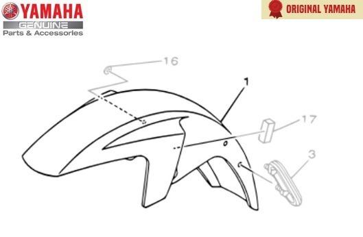 Para-lama Dianteiro Verde Yamaha Ybr Factor 125 Original