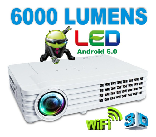 Proyector Led Portatil 6000 Lumens Android +3d +wifi Cuotas